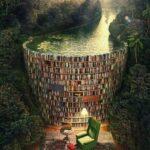 Илустрации кои ја покажуваат разликата помеѓу книгите и е-книгите
