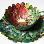 Сесила Леви ги претвори старите книги во прекрасни уметнички дела