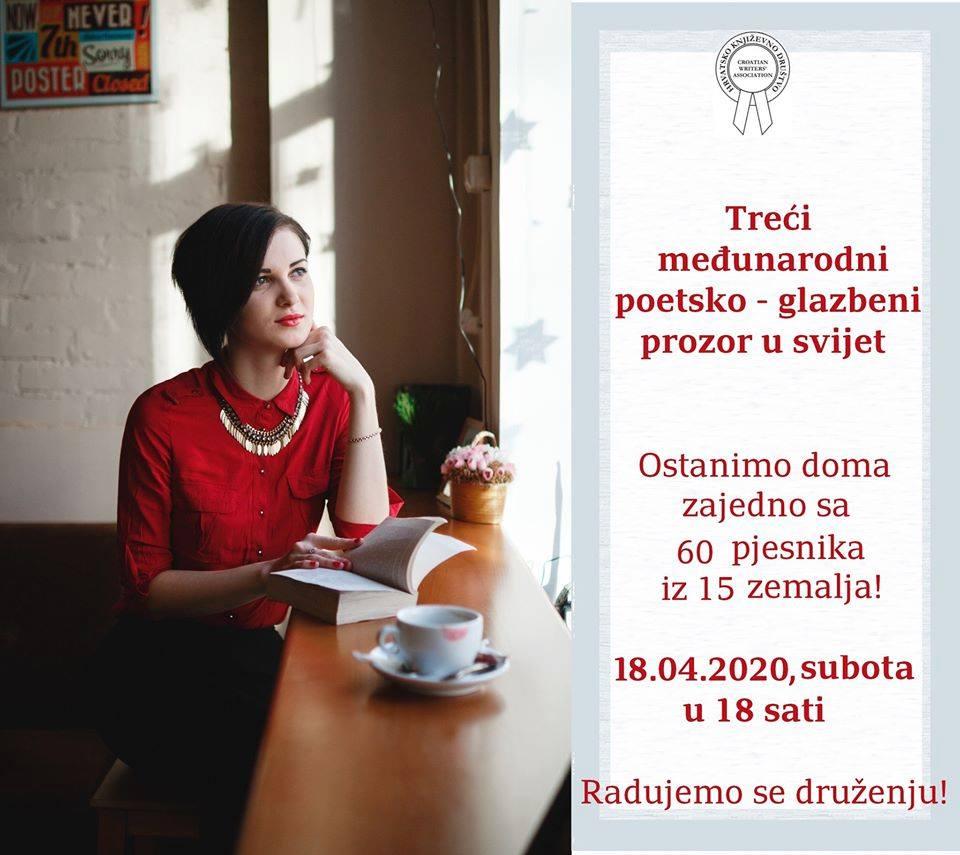 """Трет Меѓународен поетско-музички настан:  """"Поетски прозорец кон светот – останете дома"""""""