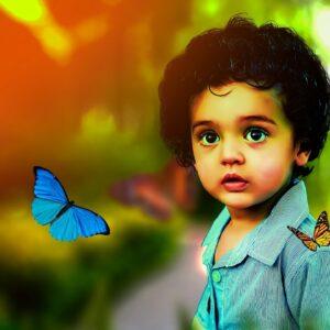 Јован Јовановиќ - Змаj - Дете и пеперутка