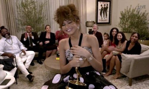 """Зендаја се запиша во историјата како најмлада добитничка на """"Еми"""" награда за главна женска улога во драма"""