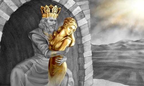Кралот Мида и приказната за алчноста