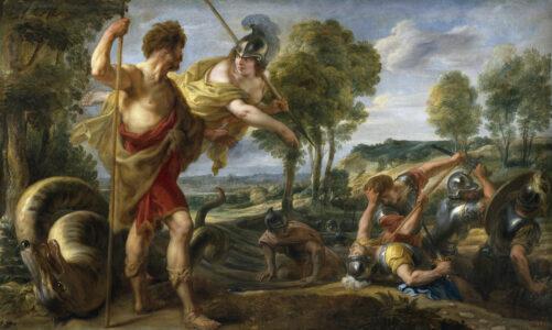 Митот за Кадмо, основачот на Теба,  на грчката азбука и на градовите Охрид и Будва